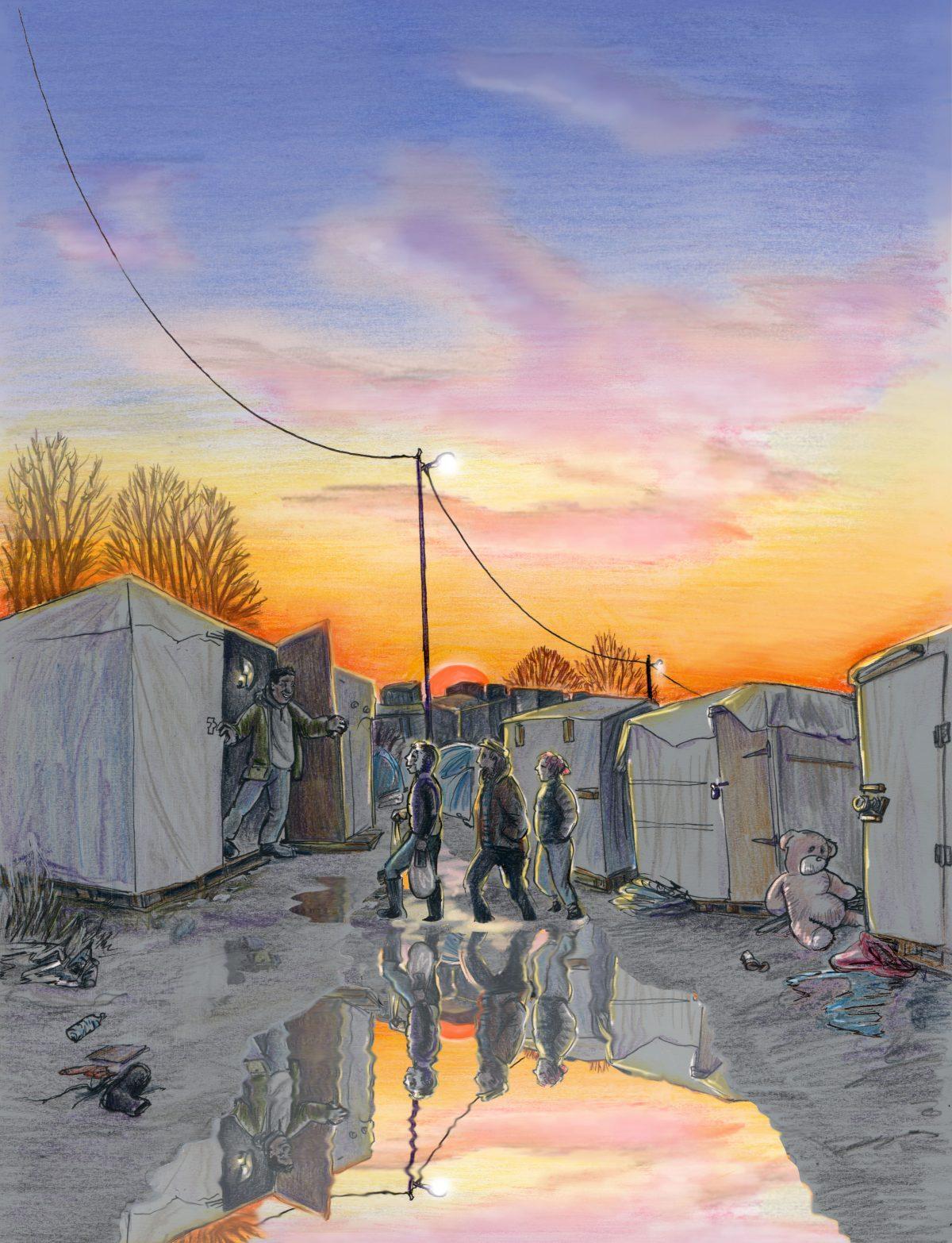 Calais Jungle Sunset