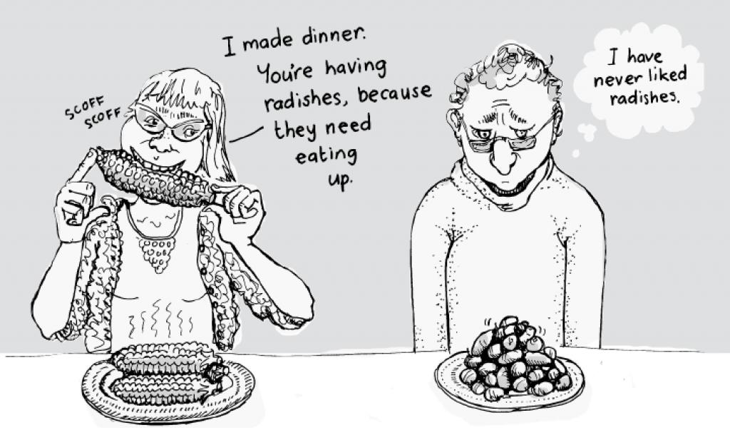 I never liked radishes.